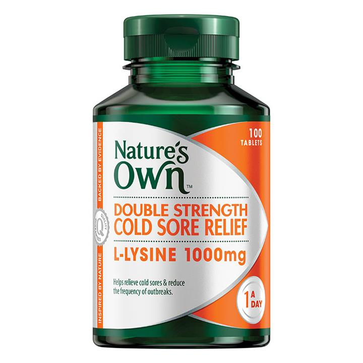 Nature's Own Double Strength Cold Sore Relief Tab X 100