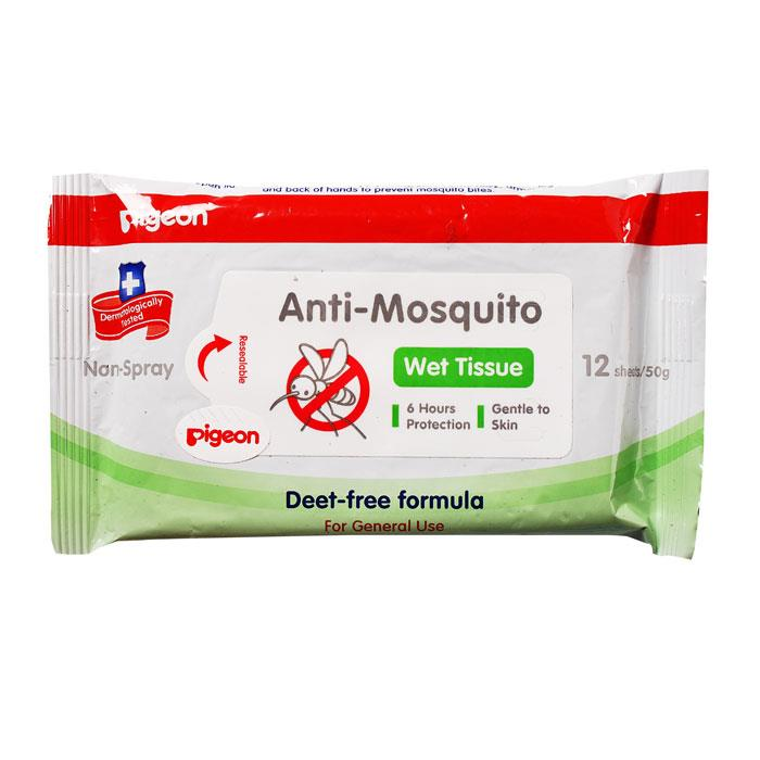 Pigeon Anti-Mosquito Wet Wipes X 12