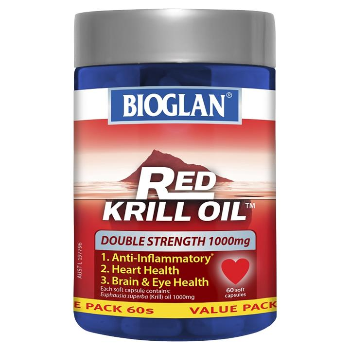 Bioglan Red Krill Oil Double Strength 1000mg Cap X 60