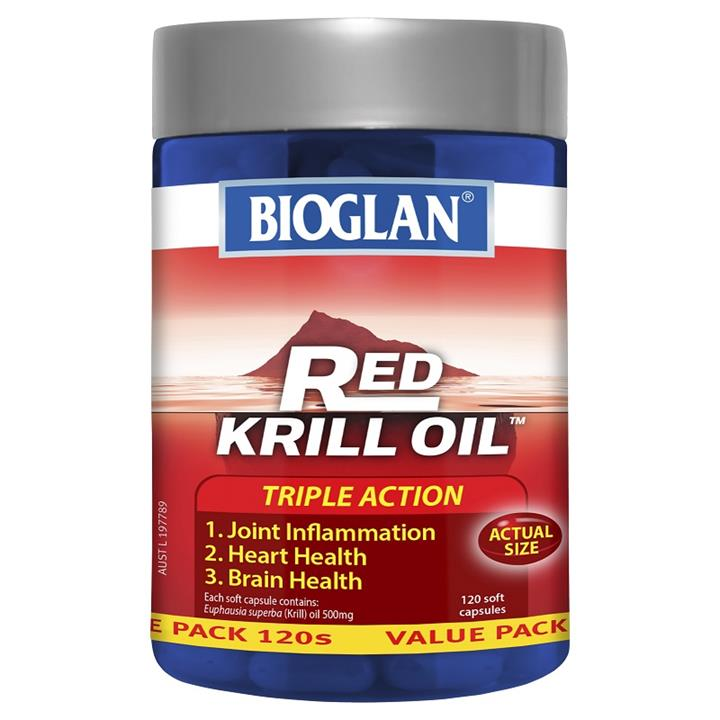 Bioglan Red Krill Oil Triple Action 500mg Cap X 120