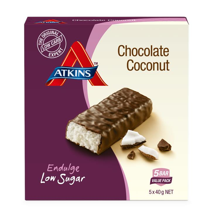 Atkins Endulge Chocolate Coconut Bar 40g X 5