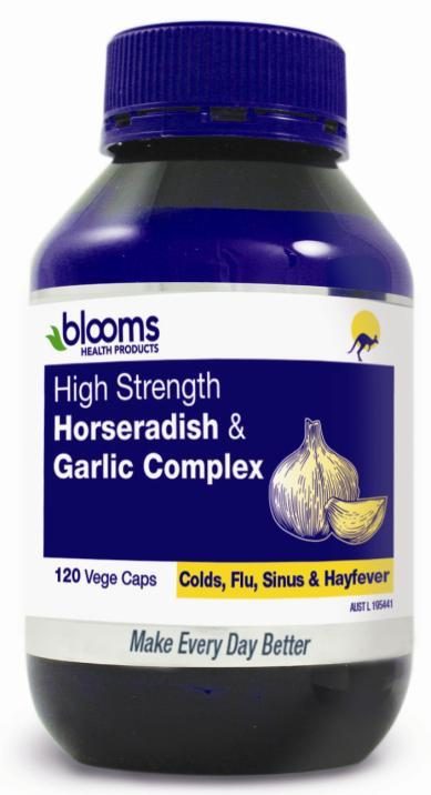 Henry Blooms High Strength Horseradish & Garlic Complex Cap X 120