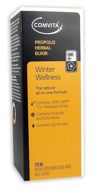 Comvita Winter Wellness Propolis Herbal Elixir 200ml