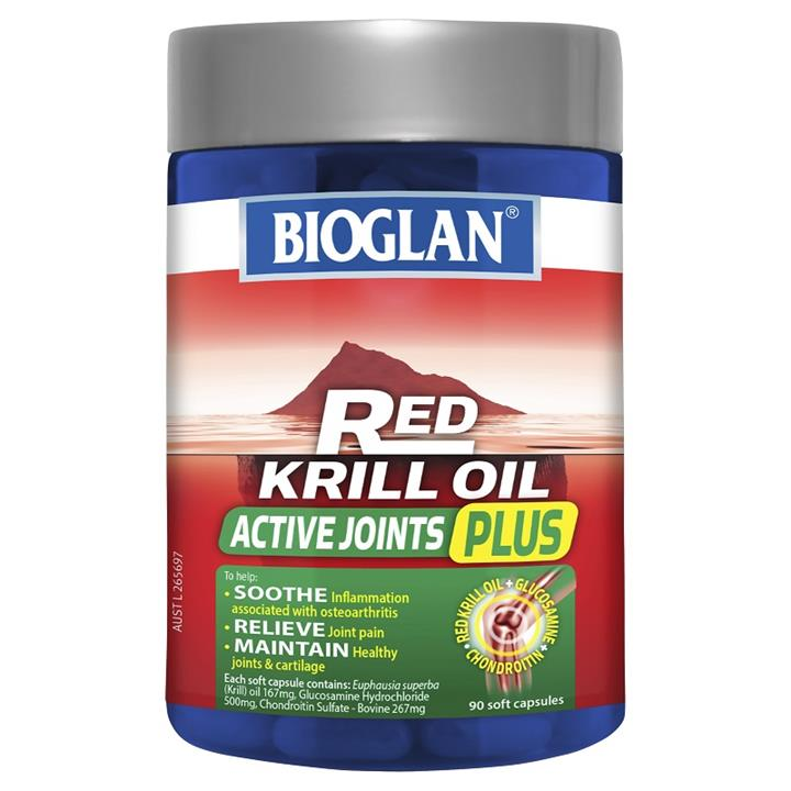 Bioglan Red Krill Oil Active Joints Plus Cap X 90