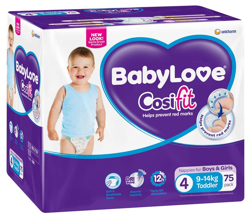 BabyLove Cosifit Nappies Toddler (9-14kg) X 69 (Limit 2 boxes per order)