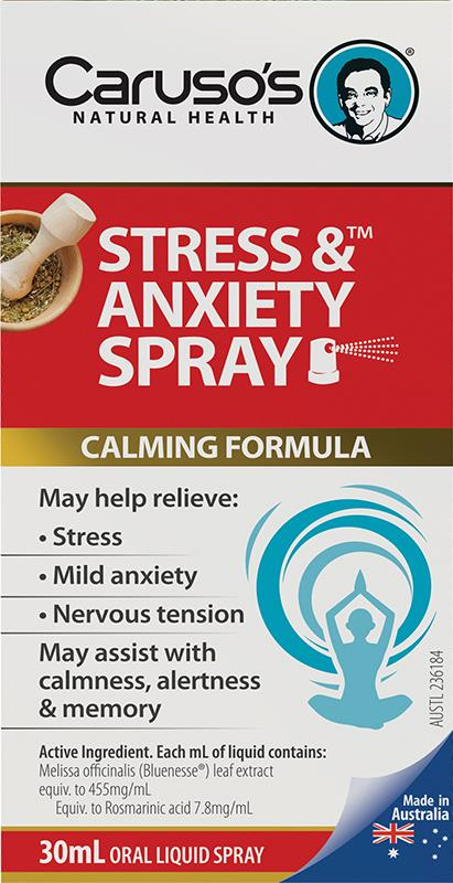 Caruso's Natural Health Stress & Anxiety Spray 30ml