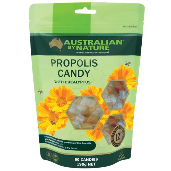 Australian By Nature Propolis Candy with Manuka Honey 12+ (MGO 400) X 60