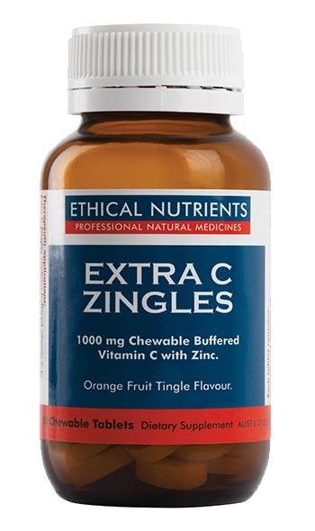 Ethical Nutrients Extra C Zingles Orange Fruit Tingle Flavour Tab X 50