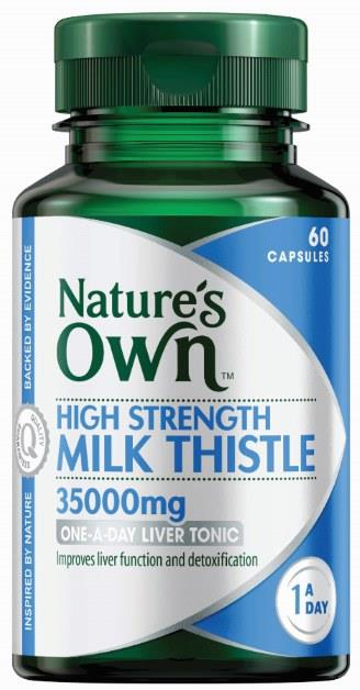 Nature's Own High Strength Milk Thistle 35000mg Cap X 60