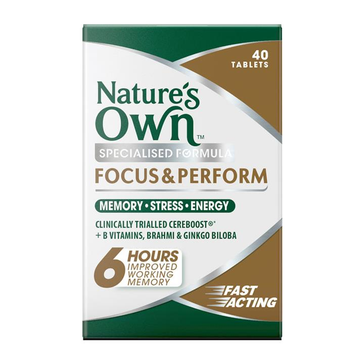 Nature's Own Focus & Perform Tab X 40