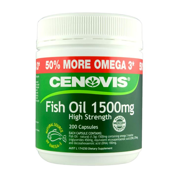 Cenovis Fish Oil 1500mg Cap X 200