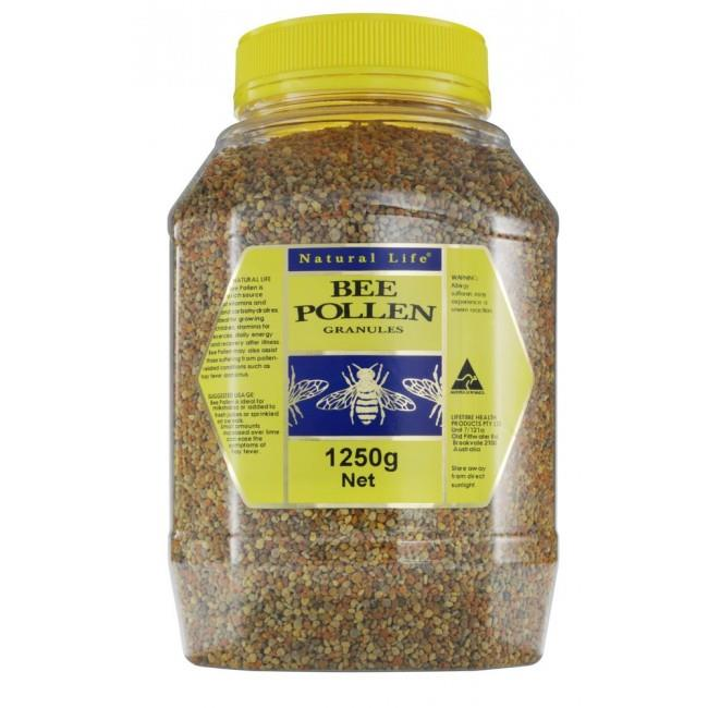 Natural Life Non Irradiated Bee Pollen Granules 1.25kg