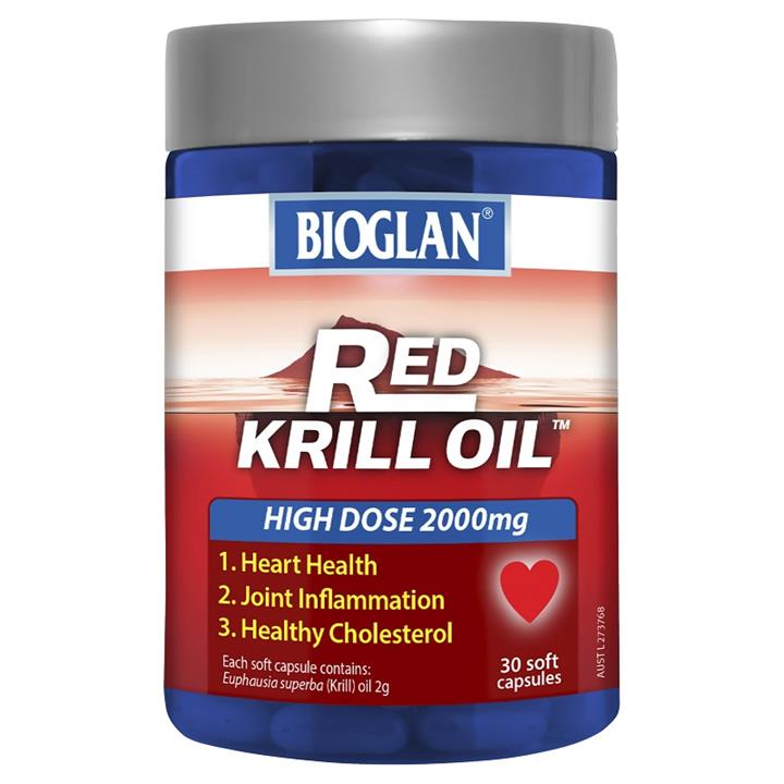 Bioglan Red Krill Oil 2000mg Caps x 30
