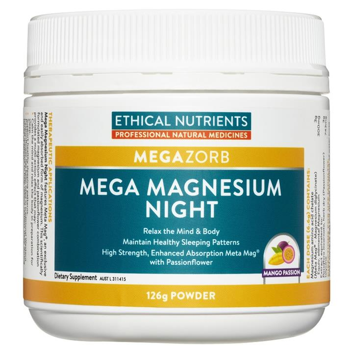 Ethical Nutrients Megazorb Mega Magnesium Night (Mango Passion) 126g