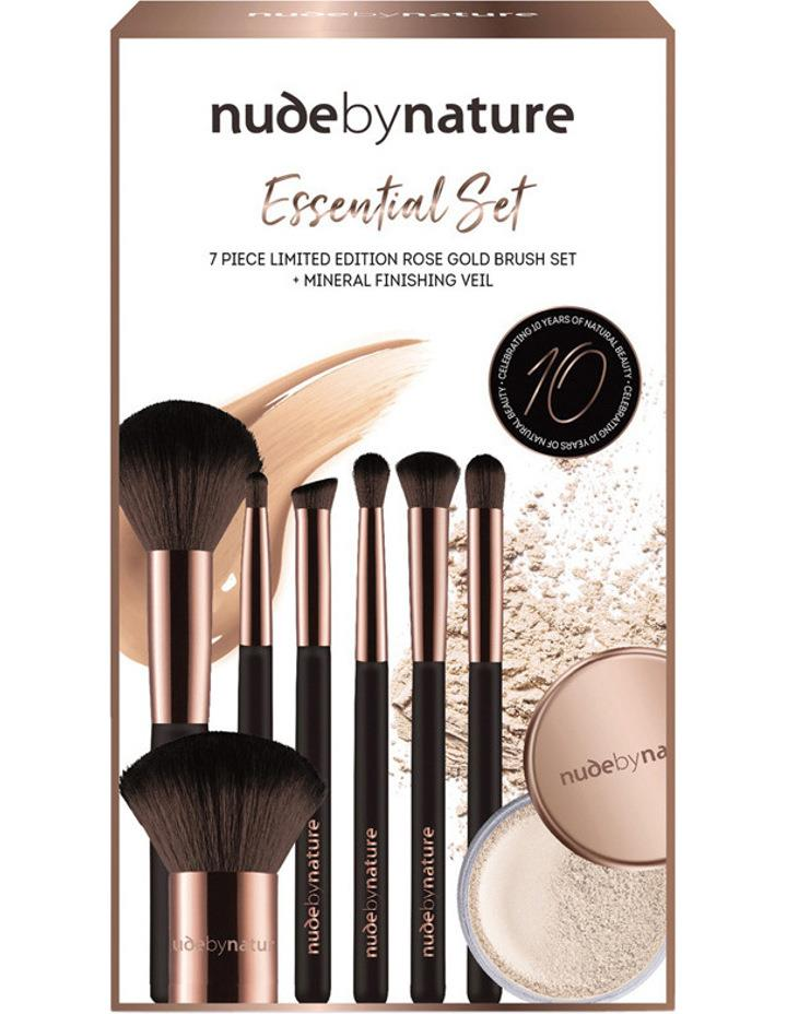 Nude by Nature Essential Collection Brush Set – 10th Anniversary Celebration Limited Edition