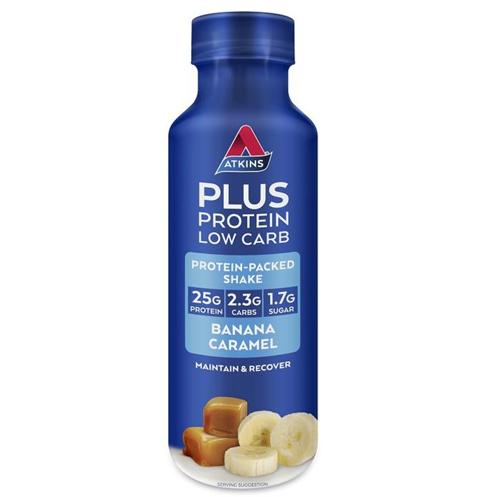 Atkins Plus Protein Low Carb Ready To Drink Shake (Banana Caramel) 400ml