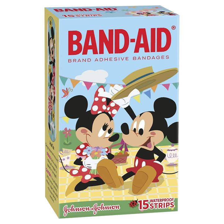 Band-Aid Mickey Mouse Waterproof Strips X 15