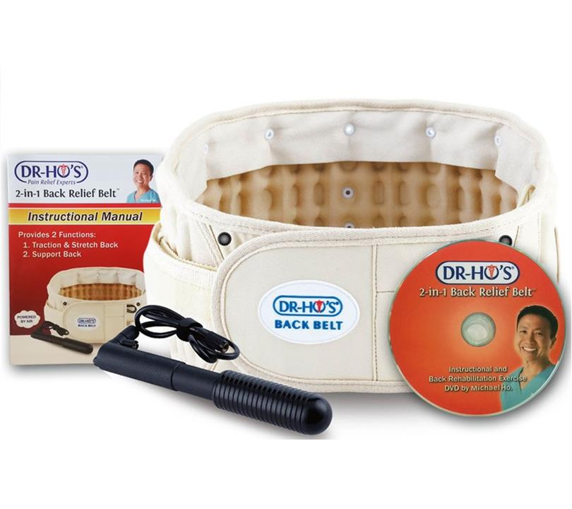 Dr-Ho's 2-in-1 Back Relief Belt Size A (Waist 63-105cm)