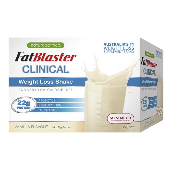 FatBlaster Clinical Weight Loss Shake (Vanilla) Sachets 53g X 18