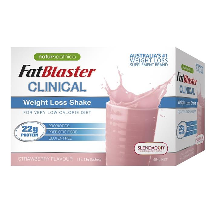 FatBlaster Clinical Weight Loss Shake (Strawberry) Sachets 53g X 18