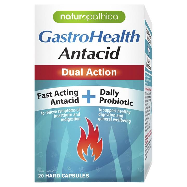 Naturopathica GastroHealth Antacid Dual Action Cap X 20