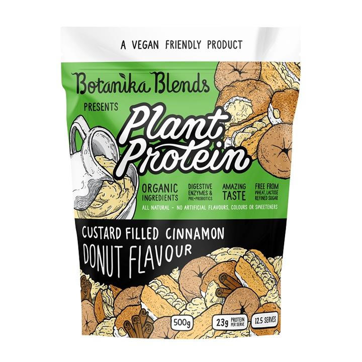 Botanika Blends Plant Protein Custard Filled Cinnamon Donut Flavour 500g
