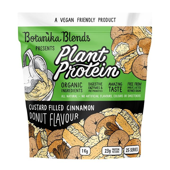 Botanika Blends Plant Protein Custard Filled Cinnamon Donut Flavour 1kg