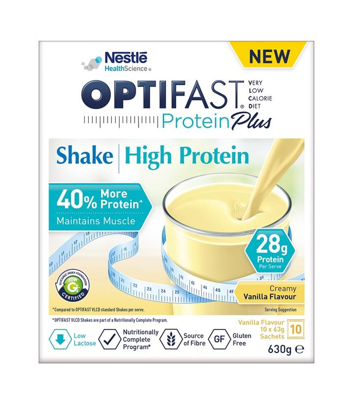 Optifast VLCD Protein Plus High Protein Shake (Vanilla) 63g X 10