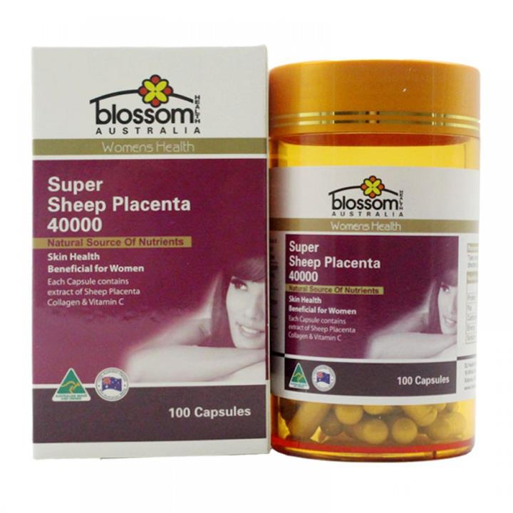 Blossom Health Super Sheep Placenta 40000mg Cap X 100