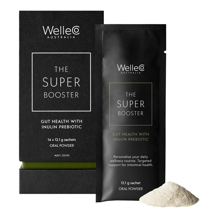 WelleCo The Super Booster Gut Health With Inulin Prebiotic Oral Powder 14 x 12.1g Sachet