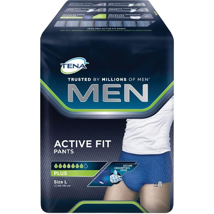 Tena Men Active Fit Plus Pant Large X 8
