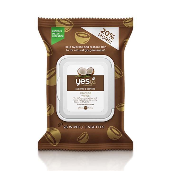 Yes To Coconut Hydrate & Restore Cleansing Wipes 30pk