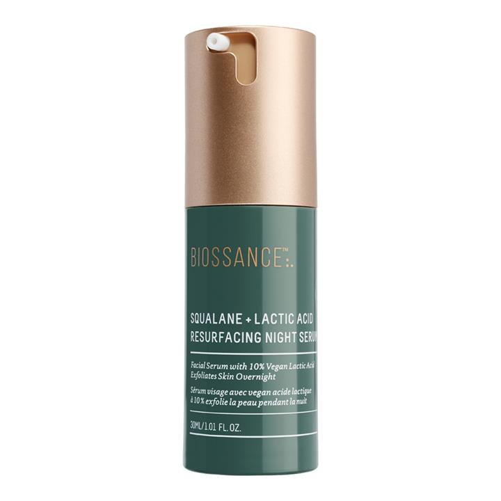 Biossance Squalane + Lactic Acid Resurfacing Night Serum 30ml
