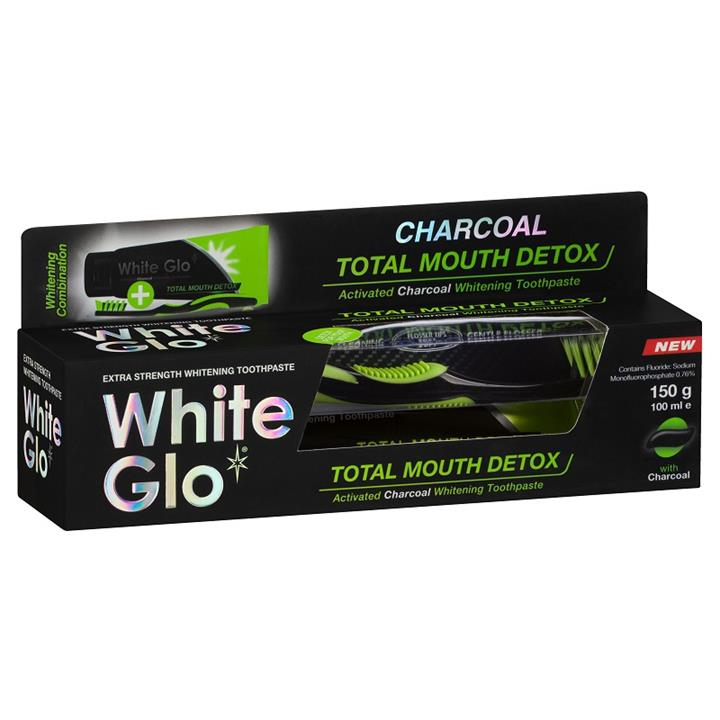 White Glo Charcoal Total Mouth Detox Toothpaste 150g