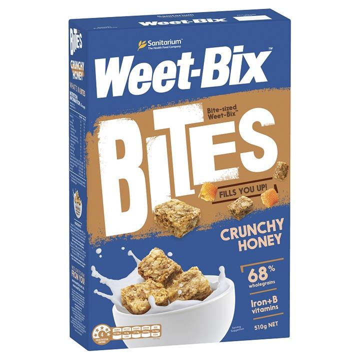 Weet-Bix Bites Crunchy Honey Breakfast Cereal 510g