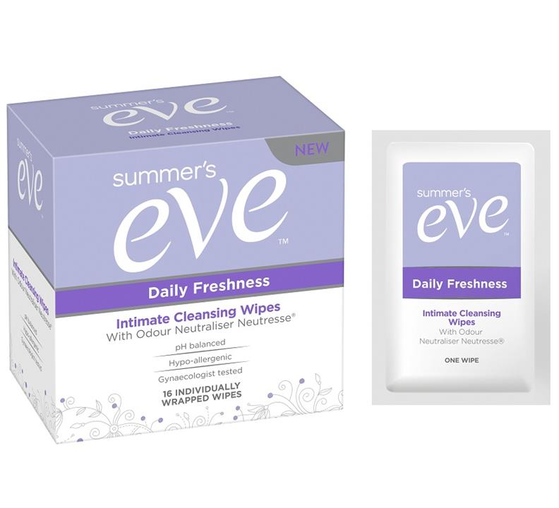 Summer's Eve Daily Freshness Intimate Cleansing Wipes X 16