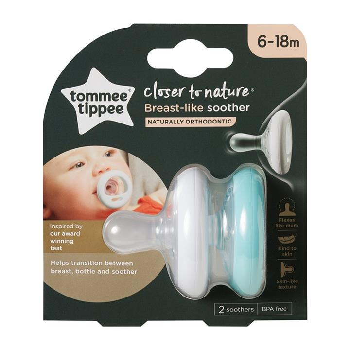 Tommee Tippee Closer to Nature Breast-Like Soother 6 to 18 Months