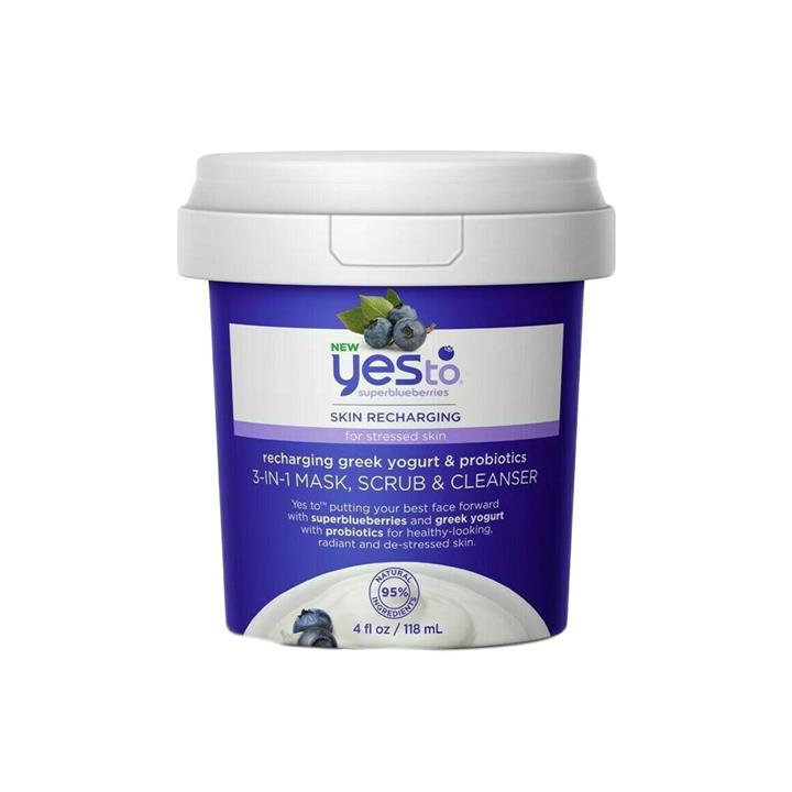 Yes To Super Blueberries 3-In-1 Mask, Scrub & Cleanser 118ml