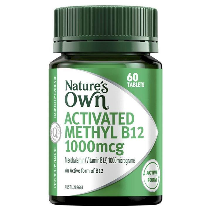 Nature's Own Activated Methyl B12 1000mcg Tab X 60