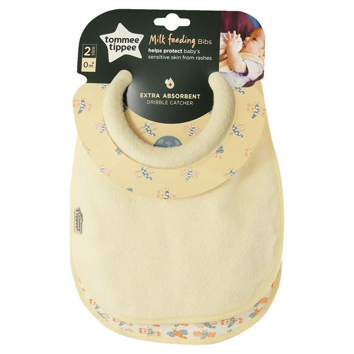 Tommee Tippee Closer to Nature Milk Feeding Bibs X 2 (Assorted)