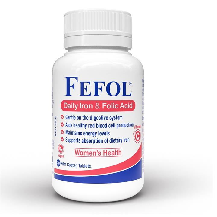Fefol Daily Iron & Folic Acid Tab X 30