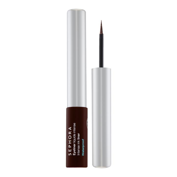 Sephora Collection Intense Ink Waterproof Liquid Eyeliner 02 Satin Chocolate Brown