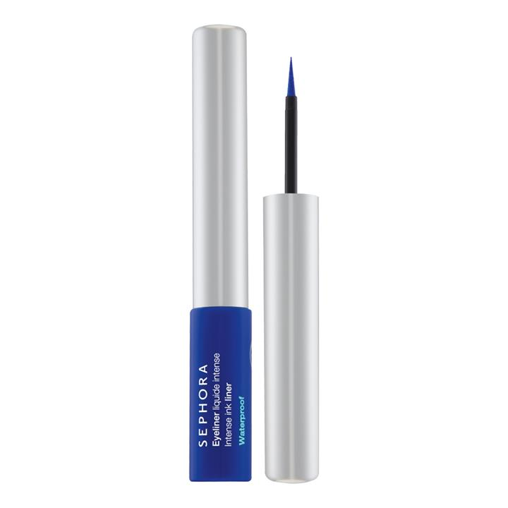 Sephora Collection Intense Ink Waterproof Liquid Eyeliner 05 Satin Cobalt Blue