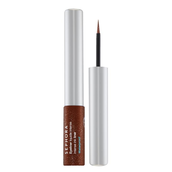 Sephora Collection Intense Ink Waterproof Liquid Eyeliner 09 Metallic Burnt Brown