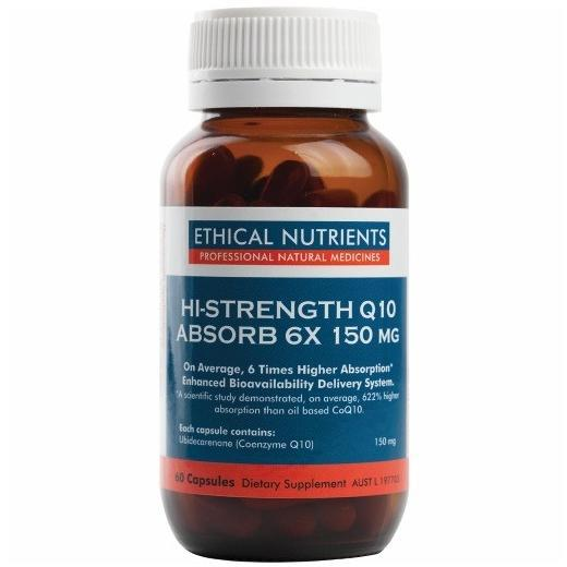 Ethical Nutrients Cardiovascular Hi-Strength Q10 Absorb 150mg 60 Capsules