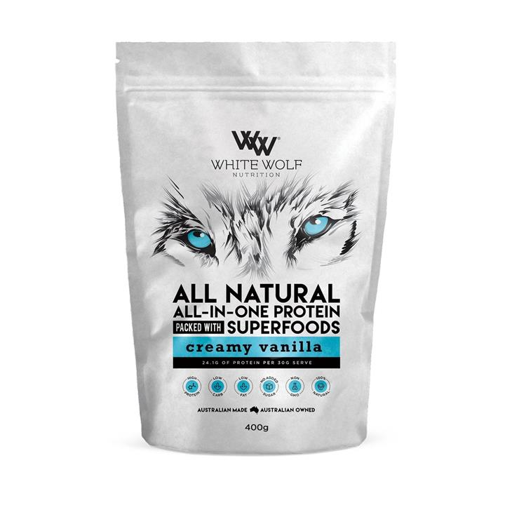 White Wolf Nutrition All Natural All-In-One Protein 400g