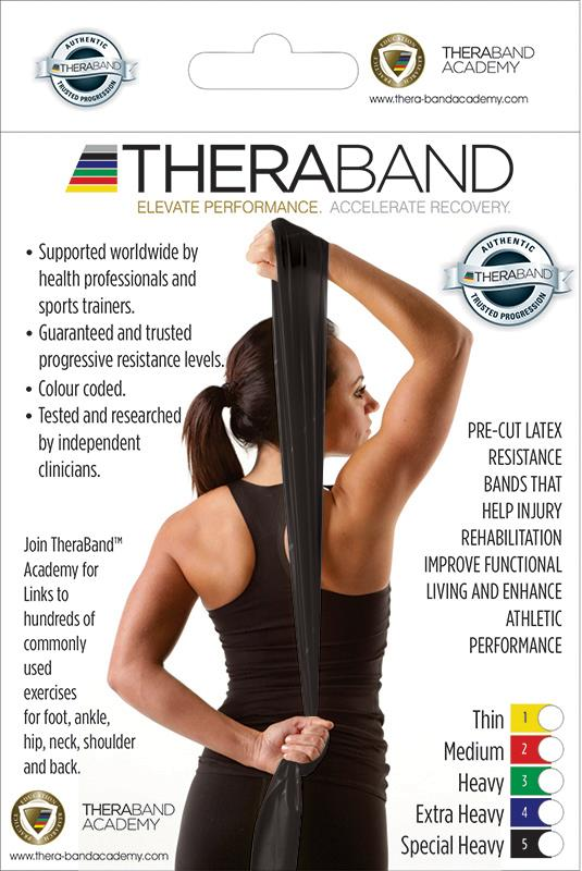 TheraBand Resistance Band Special Heavy Black Single