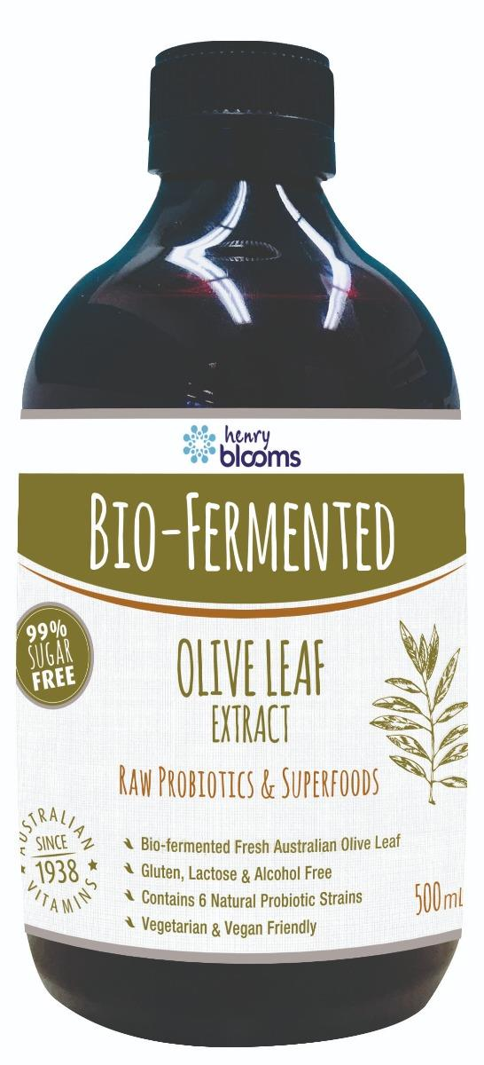 Henry Blooms Bio-Fermented Olive Leaf Extract 500ml