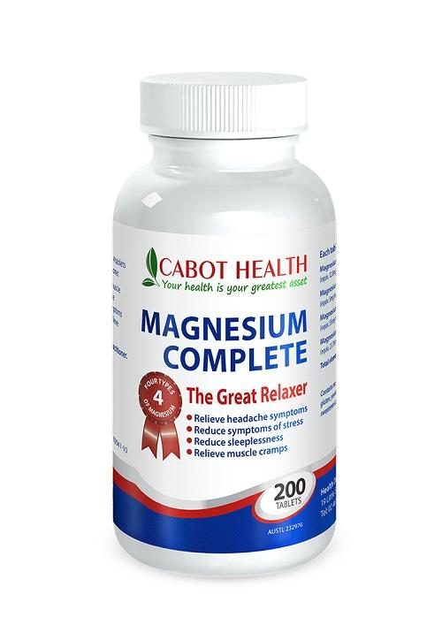 Cabot Health Magnesium Complete Tab X 200