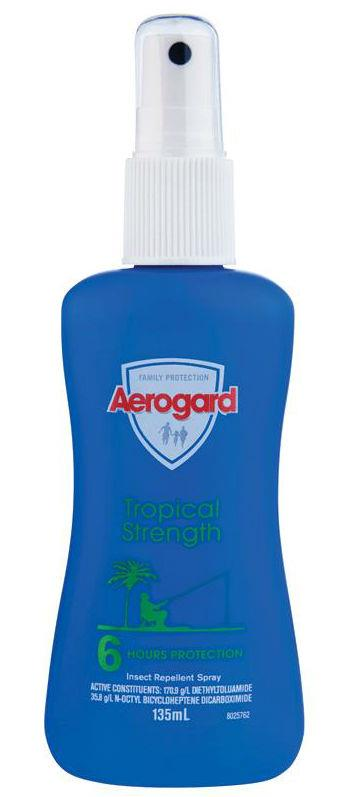 Aerogard Tropical Strength Insect Repellent Spray 135ml